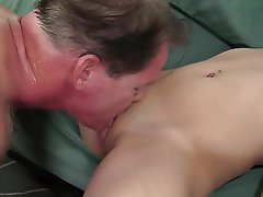 Blonde, Small Tits, Cunnilingus, Facial