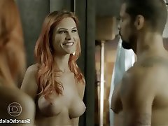 zoe-wannamaker-topless-nude-socks-bent-over