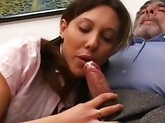 Young hot brunette blowjob and fuck, milf spread eagle pussy