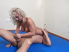 Big Boobs, Blonde, Blowjob, Femdom