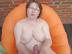Lucky big cum shots on big tits