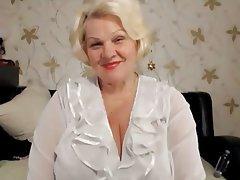 Granny blonde big tits