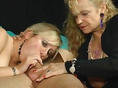 German blowjob threesome