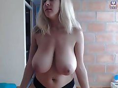 Webcam, Blonde, Big Boobs, Big Tits