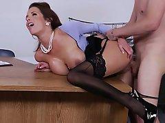 Stocking secretary porn