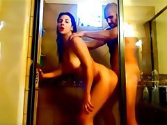 Chilena milf taking shower
