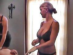 Sexy brunette sucking black cock