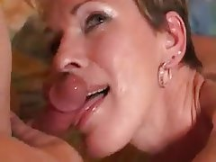 Blonde hair amateur milf short
