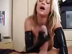 Cock handjob milf lesbo action