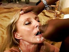 Cumshots facial blonde interracial