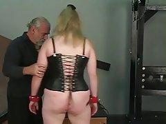 Mature granny slut bdsm slave sucks master