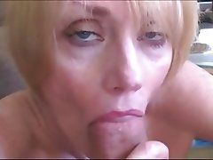 Blonde MILF Suck Fuck Facial