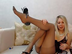 Sexy blonde pantyhose gilf authoritative