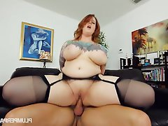 Hot chubby milf fucked by son