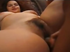 Sexy hairy bbw with toy and cock