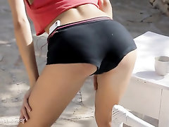 Big Tits, Masturbation, Public, Solo