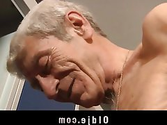 Blowjob, Brunette, Facial, Old and Young, Teen